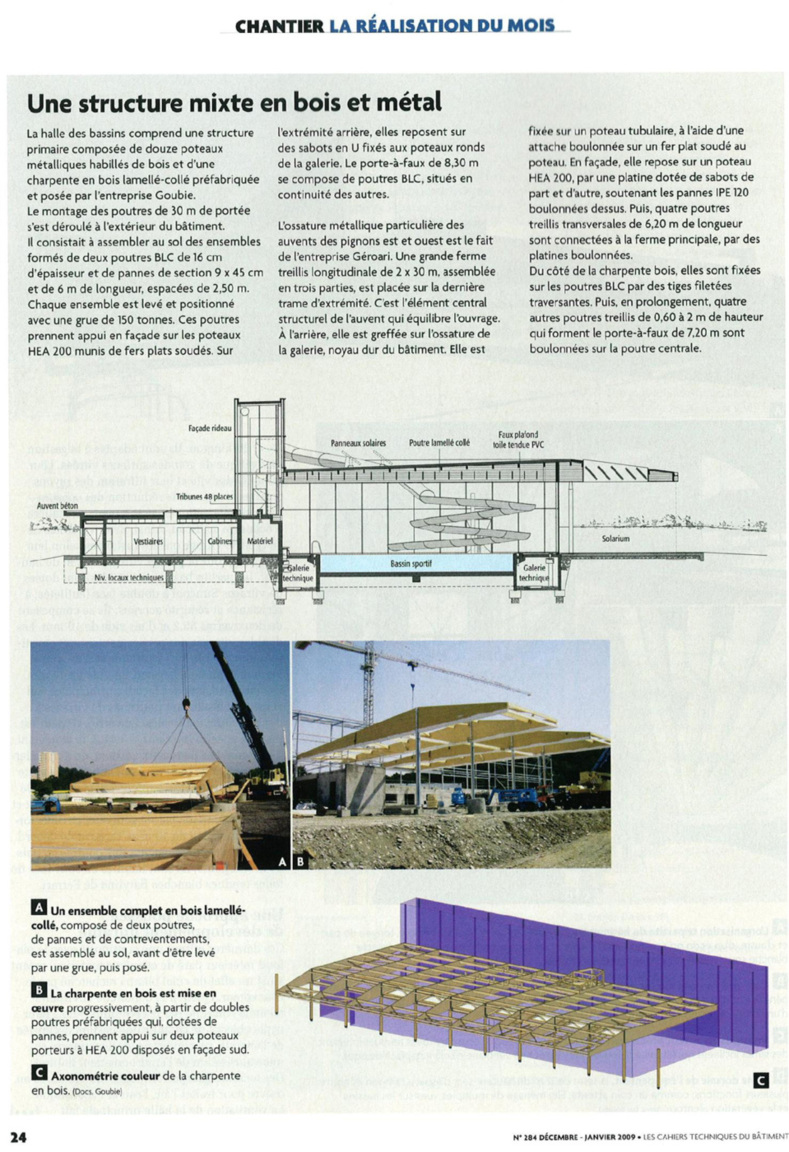"""Caisson cyclonique & techniques innovantes pour équiper une piscine """"Verte"""" (Article CSTB )"""